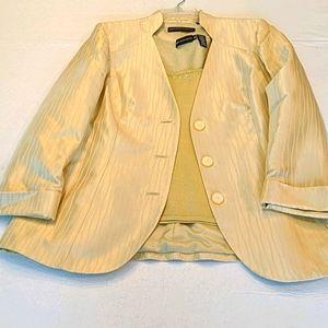 100% SILK DANA BUCHMAN jacket & shell